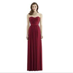 Dressy Collection burgundy strapless formal dress